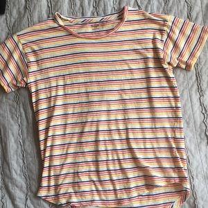 Madewell rainbow stripe tissue t
